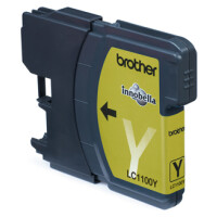 Tinteiro BROTHER LC1100Y Amarelo - MFC-6490CW, DCP-385C/ 585CW