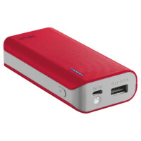 PowerBank TRUST Primo 4400 Portable Charger Red - 21226
