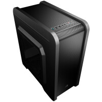 Caixa AEROCOOL QS-240 - Micro-ATX/ Mini-ITX, Mini-Tower c/ window, 1xUSB3.0/ 2xUSB2.0 - QS240