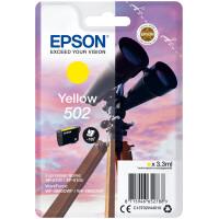 Tinteiro EPSON 502 Amarelo + Alarme RF - XP-51xx, WF-286x