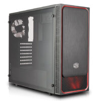 Caixa Cooler Master MasterBox E500L (RED) Front Slide Panel 1xFront/Rear 120mmFan Acrylic side panel