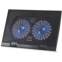 "Base Conceptronic Notebook Cooling Pad, Fits up to 15.6"", 2 Fans - THANA 02B"