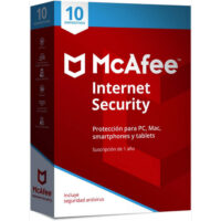 Mcafee Internet Security 10 Dispositivos 1Y Win, Mac, Android, iOS PT