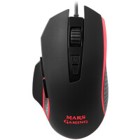 Rato MARS GAMING 4800 DPI, RGB, SOFTWARE, EXTENDED BASE, 8 BUTTONS - MM018