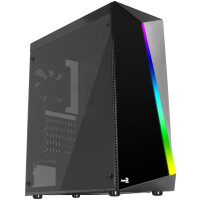 Caixa AEROCOOL SHARD MID TOWER, ATX, RGB 13 MODES, ACRYLIC SIDE&FRONT PANEL, 12CM FAN - SHARD