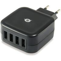 Carregador USB CONCEPTRONIC ALTHEA 4-Port 25W - ALTHEA04B
