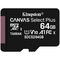 MicroSD Kingston Canvas Select Plus 64GB class10 UHS-I SDHC(100MB/ s-85MB/ s)