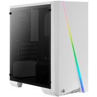 CAIXA AEROCOOL CYLON MINI WHITE MICRO-ATX, RGB 13 MODES, FULL SIDE WINDOW, 1X 8CM FAN