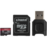 MicroSD Kingston React Plus 128GB class10 UHS-II U3 V90 A1(285MB/ s-165MB/ s)