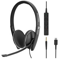 Auscultadores SENNHEISER SC 165 USB C Bi-auricular, 20000Hz, 3, 5mm, 115Db, Black