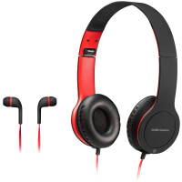 Auscultadores MARS Gaming MHCX 2in1 Combo Foldable Headset + Auscultadores In-Ear c/ Mic 3.5mm Jack