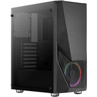 CAIXA AEROCOOL ZAURON ATX CASE, 1X12CM SATURN FRGB FAN, TEMPERED GLASS, FRONT MESH
