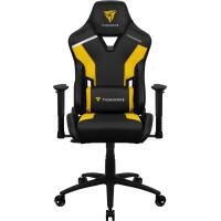 Cadeira THUNDERX3 TC3 YELLOW HI-TECH GAMING CHAIR, AIR-TECH, CARBON FIBER, ERGO CUSHIONS
