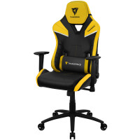 Cadeira THUNDERX3 TC5 YELLOW HI-TECH GAMING CHAIR, AIR-TECH, LATEX FOAM, ERGO CUSHIONS