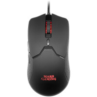 Rato MARS GAMING MMV MOUSE, 10000DPI, ULTRALIGHT 69G, RGB, KAILH, FEATHER CABLE, BLACK