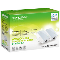 Kit 2 Adap PowerLine TP-Link 500Mbps Ethernet - TL-PA411KIT