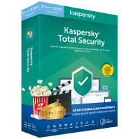 Software Kaspersky Total Security KTS 2020 3D1Y + 2 Bilhetes cinema