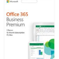 Office 365 Business Premium Retail Portuguese EuroZone Sub 1YR Medialess