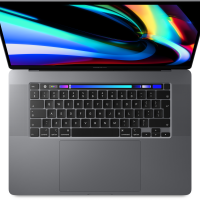 Apple MacBook Pro 16P with Touch Bar: 2.3GHz 8-core 9th-Gen. i9 1TB - Space Grey