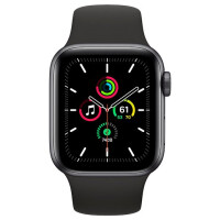 Apple Watch SE GPS 44mm - Space Gray Aluminium Case with Black Sport Band